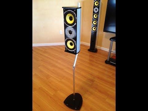 How to make surround sound speaker stands
