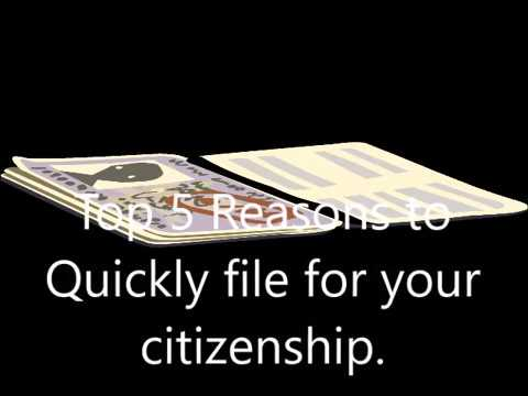 Top 5 Reasons to File for Your US citizenship.
