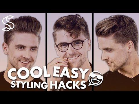 Men's Hairstyling Hacks - Easy Tutorial - Men hair inspiration