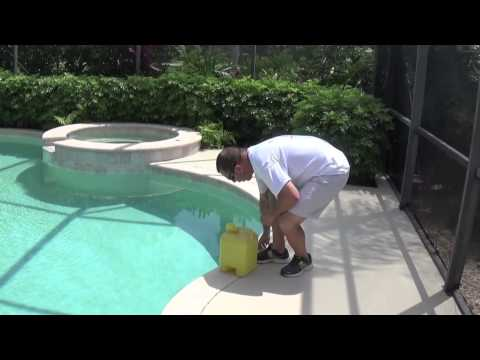 Add Liquid Chlorine (Shock) To Your Pool   By Waterdrop Pools of Naples Florida