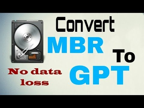 How to Convert MBR to GPT Without Data Loss for window 7/8/10
