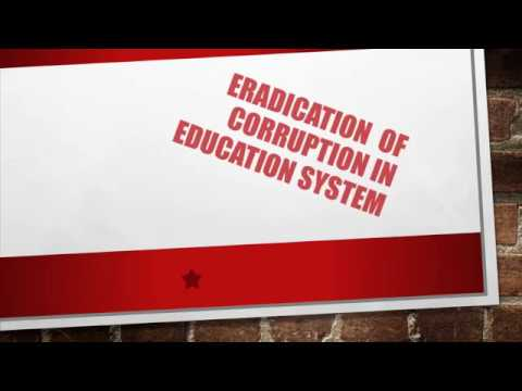 corruption in education
