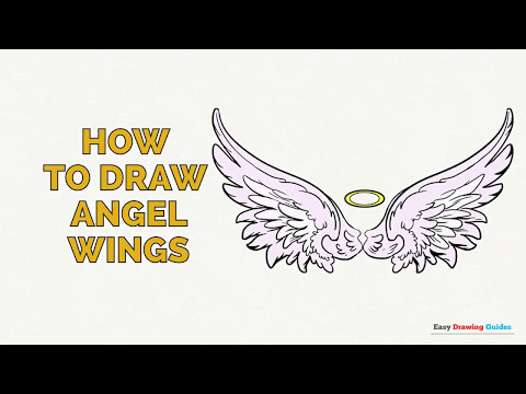 How to Draw Angel Wings in a Few Easy Steps: Drawing Tutorial for Kids and Beginners