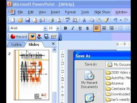 Microsoft Office PowerPoint 2003 Save a slide background, or object as a picture