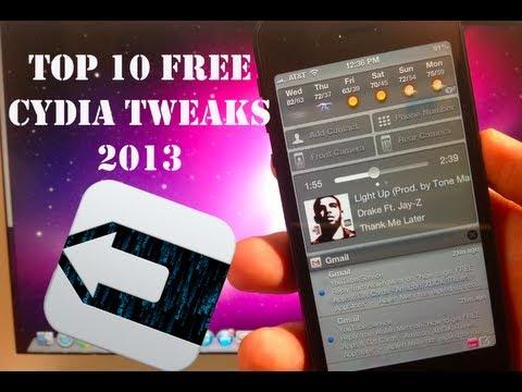 Top 10 Free Cydia Tweaks & Apps 2013 - iPhone, iPod