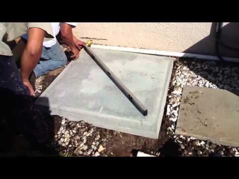 HVAC Leveling an AC Pad