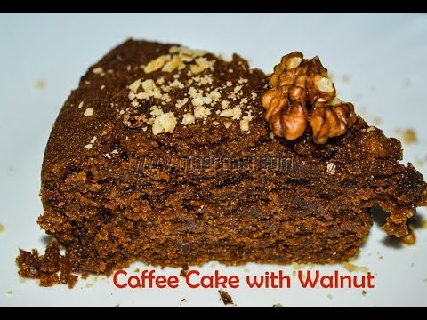 Coffee Cake with Walnut (Eggless, no butter, no milk / Vegan Cake) | Madraasi - Christmas Special
