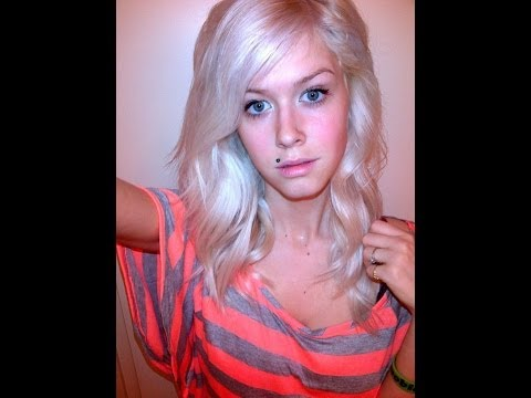 How to get healthy platinum blonde hair!