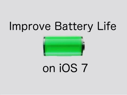 Improve Battery Life iOS7 iPhone, iPad, iPod