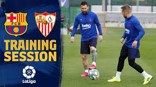 TRAINING SESSION   Ready for the match against Sevilla!