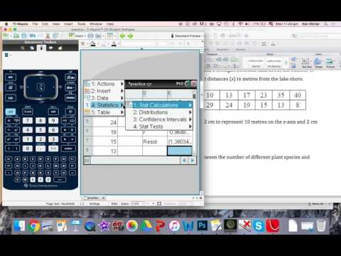 TI-NSpire 2 Linear Regression and Correlation Coefficient