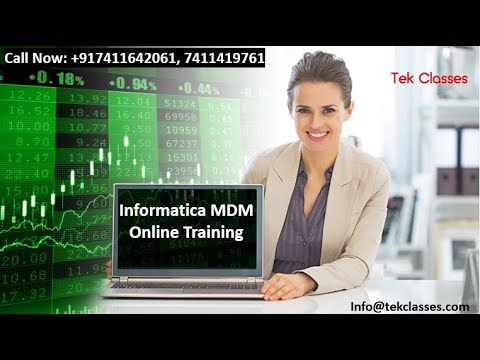 Informatica MDM Demo Online Webinar | Informatica MDM Training Videos