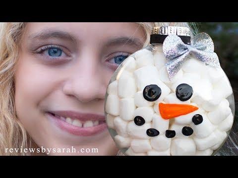 DIY Tutorial - Clear Plastic Snowman Ornament - Christmas Ideas