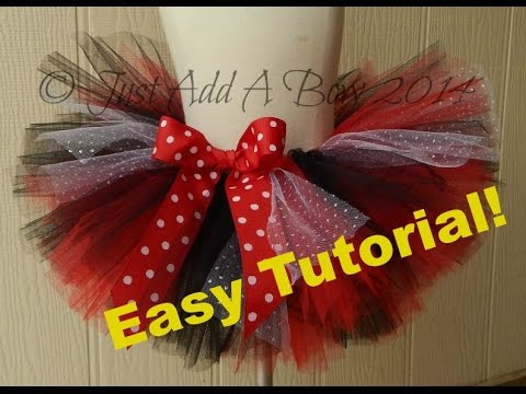HOW TO MAKE AN EASY NO SEW TUTU - With Elastic Waistband