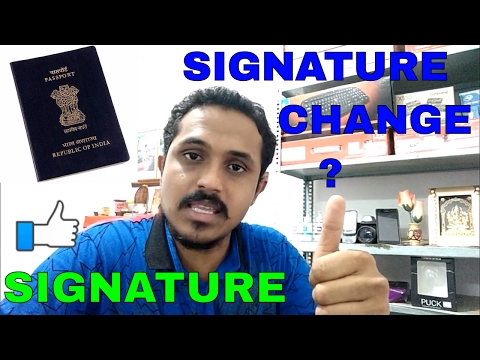 HOW TO CHANGE SIGNATURE/THUMB IN PASSPORT!ALL INFORMATION!!(HINDI 2017)