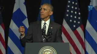 President Obama Delivers Remarks at the Stavros Niarchos Foundation Cultural Center