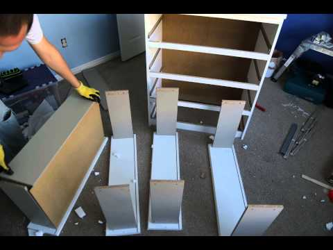 IKEA Malm Chest of Drawers assembly time-lapse