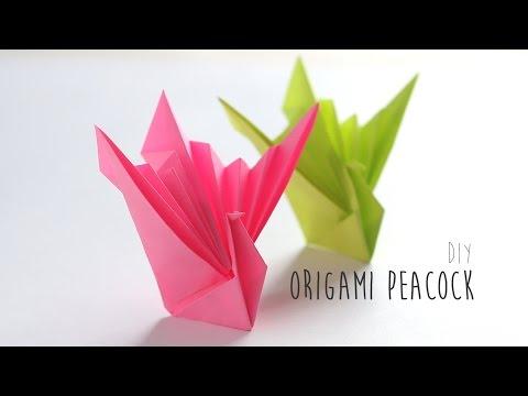 DIY: Origami Peacock