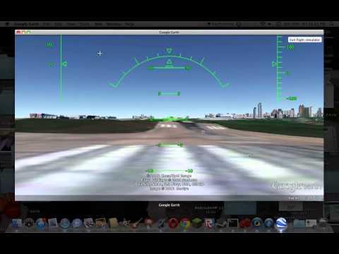 Google Earth Flight Simulator Tutorial MAC (OSX Snow Leopard 10.6)