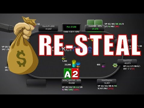 Poker Tactics: The RE-STEAL bluff