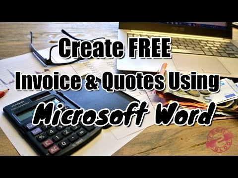 Create FREE invoice and quotes using Microsoft Word