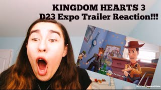 Kingdom Hearts 3 - D23 2017 Trailer Reaction!!!