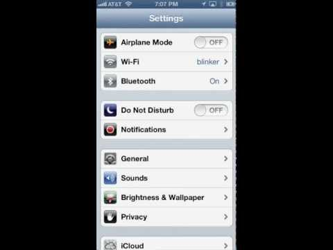 Configuring automatic Do Not Disturb mode on the iPhone