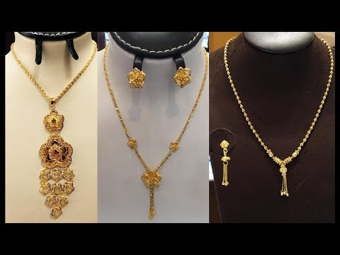 Latest Light Weight Short Gold Chain Designs Below 12 Grams - She Fashion