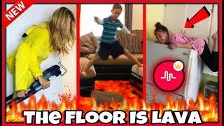 FUNNIEST The Floor Is Lava Challenge Musical.ly Compilation 2017 #TheFloorIsLavaChallenge