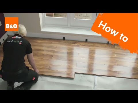 How to lay flooring part 3: laying locking laminate