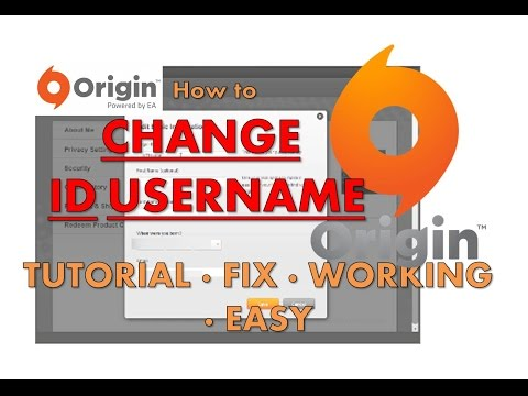 How to CHANGE your ORIGIN ID [JULY 2015] working fix tutorial