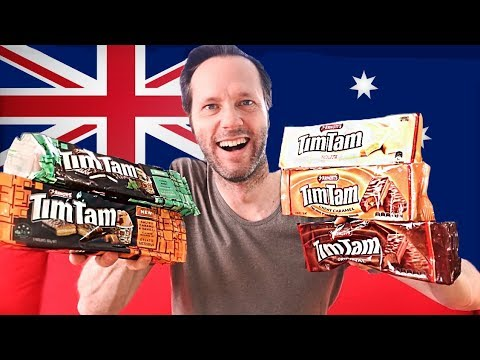 A Swede eating Tim Tams - Trying Australian Candy (Tim Tam salted caramel & vanilla and Choco mint)