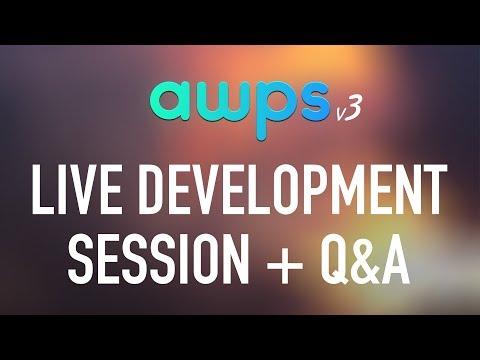 Alecaddd Live: AWPS v3 Live Development Session + Q&A