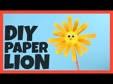 Paper Lion Craft - paper craft idea