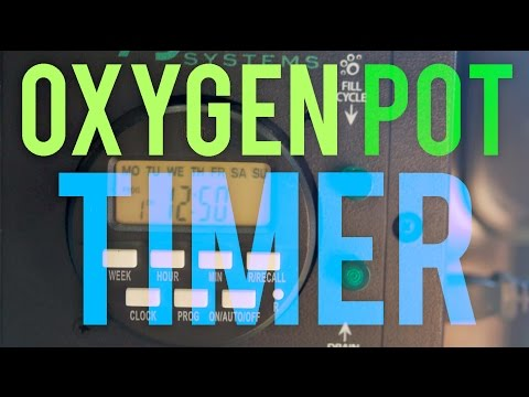 How to Set Up the Oxygen Pot System Digital Timer & Set Water Level for Hydroponics