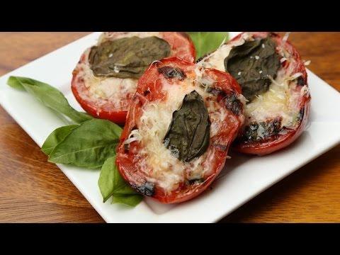 Grilled Parmesan & Basil Tomatoes!