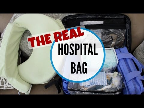 What's in my hospital bag (the real deal!) | 2016