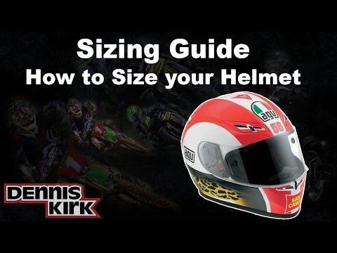 How to Measure Helmet Size - Dennis Kirk