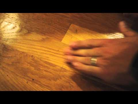 Easy DIY remove scuff marks from oak hardwood floor with eraser