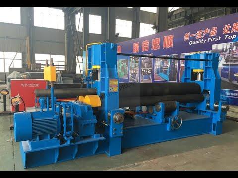 sheet metal hydraulic cone rolling machine , plate bending cone machine 12x3200mm