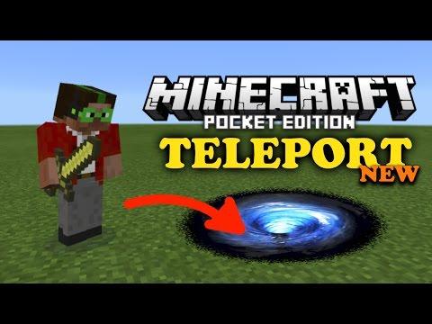 ✔️ Minecraft PE - HOW TO TELEPORT! {Teleportation Trick/Glitch in MCPE 0.15.0}