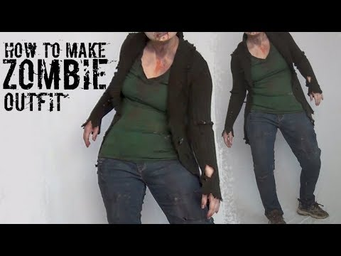 How To Make Zombie Costume Tutorial for Halloween! Ultimate Zombie Makeover Part 2!