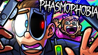 Phasmophobia Funny Moments - Moo's Daughter Scares Terroriser!
