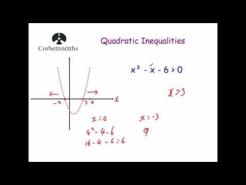 Quadratic Inequalities - Corbettmaths