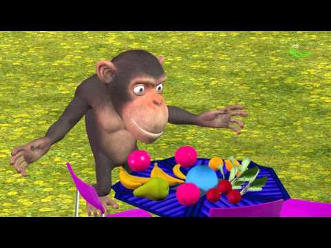 Baby Chimpanzee Poop colors Learning | Toilet poop colors Chimpanzee // Chucho Kids Tv