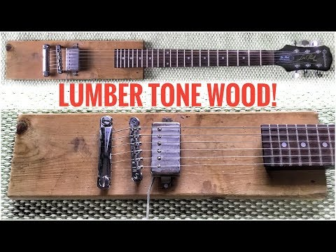 Small Scrap Lumber GUITAR BODY - Couldn't believe the TONE!!