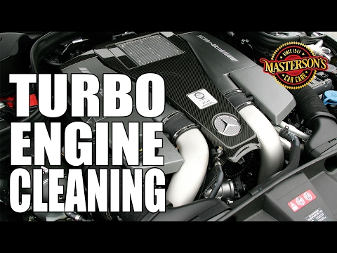 Twin Turbo Engine Cleaning - Masterson's Car Care - Mercedes-Benz E63 AMG