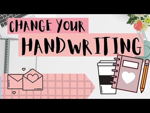 How to change your handwriting