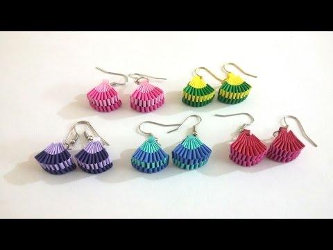 5. How to make Paper Weaving Fan Shape Earrings