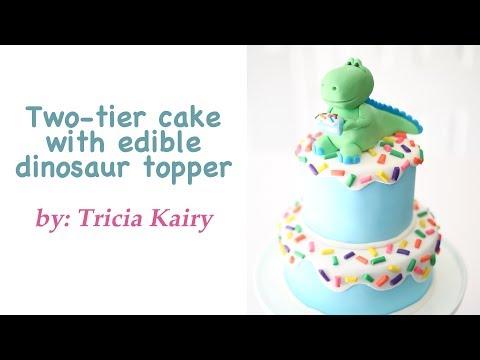 Dinosaur Cake from start to finish